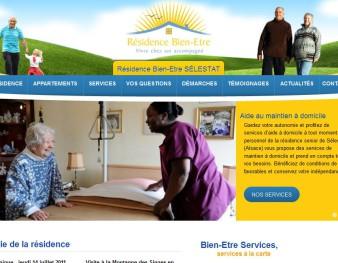 Site de la Résidence Bien-Etre de Sélestat