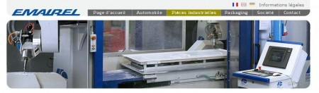 Site internet d'Emairel, spécialisé dans le thermoformage
