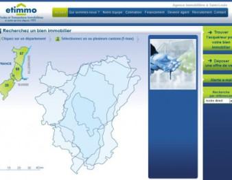 Site internet d'Etimmo, agence immobilière