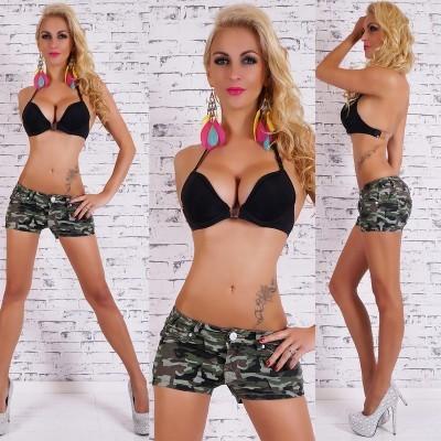 Mini short militaire pour femme