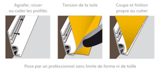 pose mur imprime profile